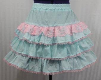 Pastel blue skirt fairy kei gothic goth lolita small-plus size