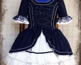 Black/White Asami gothic lolita dress adult--small to plus size