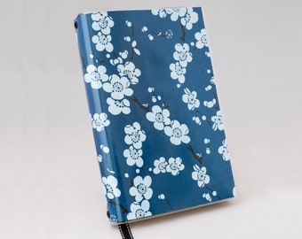 Blue Cherry Blossom Book Cover - Large Trade Paperback Size