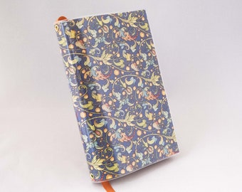 Paperback Book Cover - Italian Florentine Floral Blue Pattern - Large Trade Size