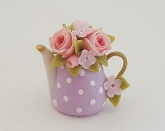 1:12 scale floral teapot