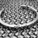 Heavy Distressed Silver Cuff, Unisex Silver Bracelet