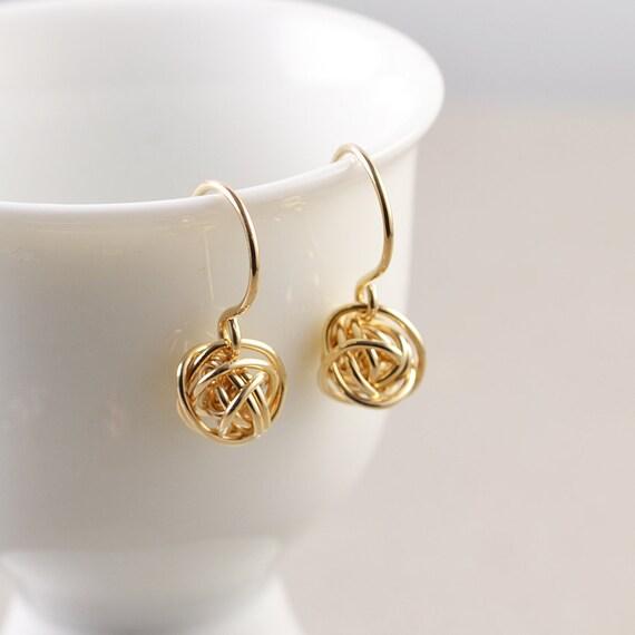 Ohrringe vergoldet und stilvoll