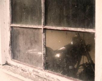 Sepia Motorcycle Vintage Theme Man Room Wall Art Room Decor - John's Bike - Fine Art Photograph