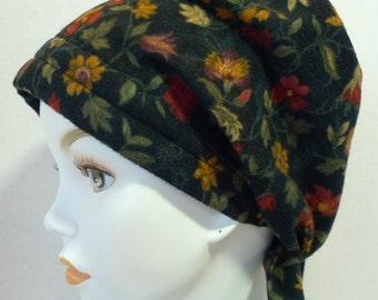 Womens Soft & Warm Floral Flannel Hair Loss Cancer Hat Chemo Scarf Cap Head Wrap Alopecia Turban Headcovering Bad Hair Day