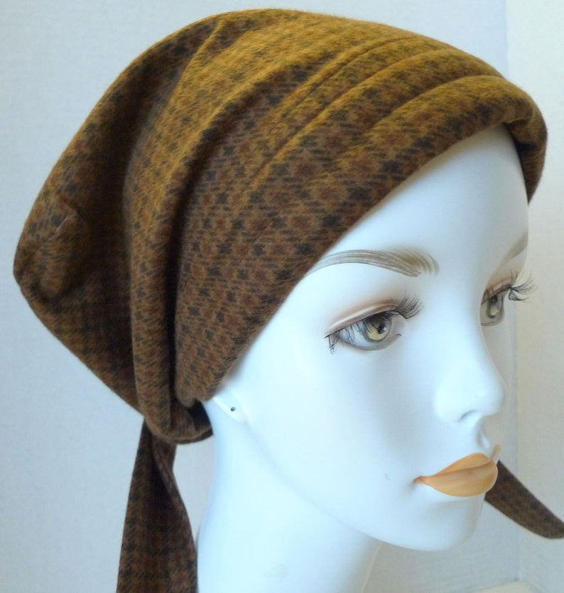 Soft Warm & Cozy Flannel Cancer Chemo Cotton Hat Scarf Cap image 0