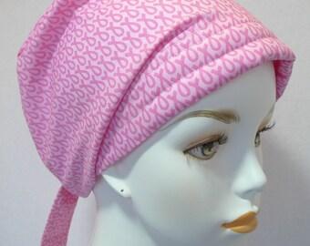 Breast Cancer Pink Ribbon Hat Chemo Scarf Turban Head Wrap Hair Loss Cap
