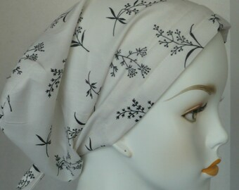 Cream Springs of Flowers Cancer Hat Chemo Scarves Head Wrap Hair Loss Turban Headcovering Bad Hair Day Hat