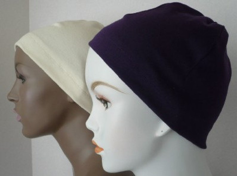 Ladies Soft Sleep Caps Cancer Chemo Scarf Liner Cap Hat Cotton image 0
