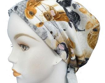 Cute Puppy Chemo Scarf Cancer Turban Hat Cotton Bad Hair Day Head Wrap