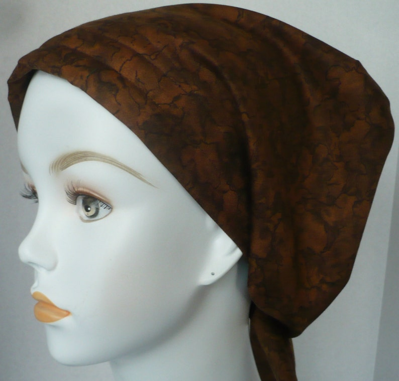Expresso Gem Stone Chemo Scarf Cancer Turban Hat Cotton Bad image 0