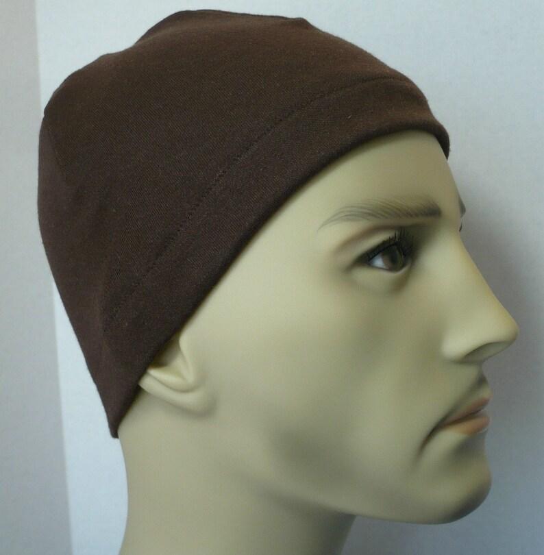 3dd8d5c6264 Men s Brown Skull Cap Bike Interlock Running CPAP Sleep