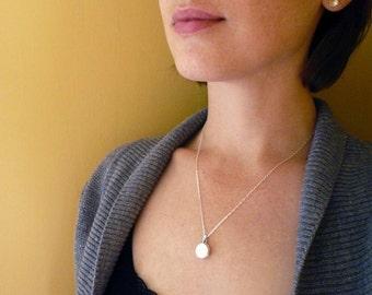 Sterling Silver Locket Necklace - Sweet Heirloom Quality Gift. Solid Sterling Silver Locket. Locket Pendant Necklace. Keepsake Locket.