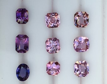 Design your own ring. Purple violet pink sapphire ring. Rose gold. White gold. Yellow gold. Platinum ring.