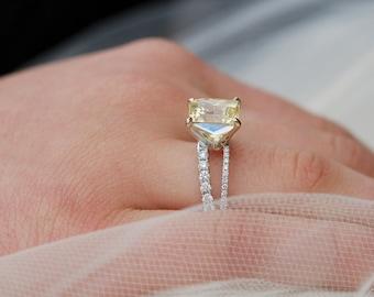 Yellow sapphire rings