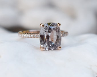 Rose gold engagement ring. Blake ring Cushion Moody Sapphire Engagement Ring cushion cut sapphire ring by Eidelprecious
