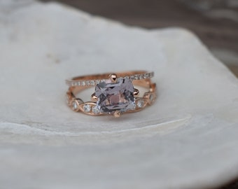 Fall/Winter mood sapphire ring. Rose gold engagement ring  2.3ct moody sapphire diamond ring. Engagement ring by Eidelprecious