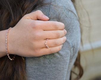 Eidelprecious Pink Sapphire Bracelet. 14k Rose gold bracelet. Anniversary gift. Tennis bracelet. Blue sapphire bracelet by Eidelprecious.