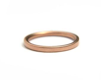 Plain gold matching wedding band 14k Rose gold ring