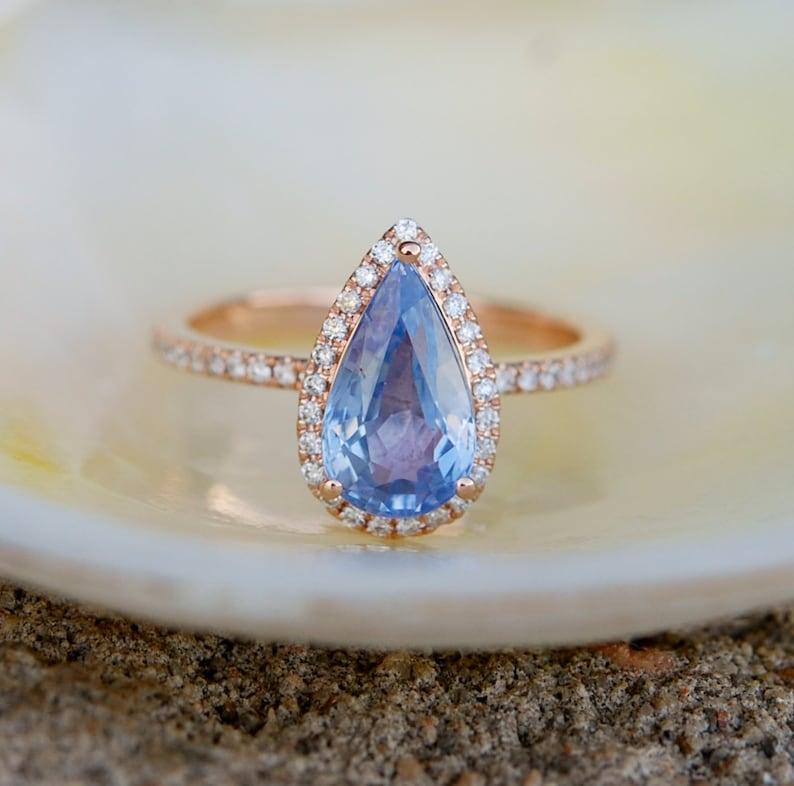 Final Payment Blue Sapphire Engagement Ring Blue Sapphire 14k Etsy