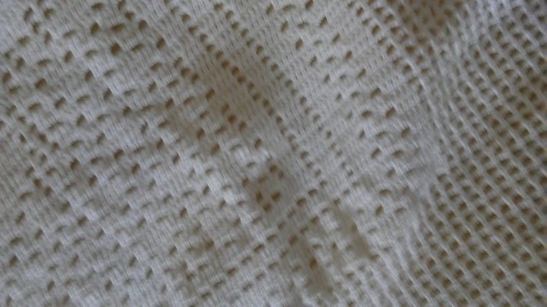 Beautiful white hand crocheted 28 x 80 inch Deer design Lace Panel