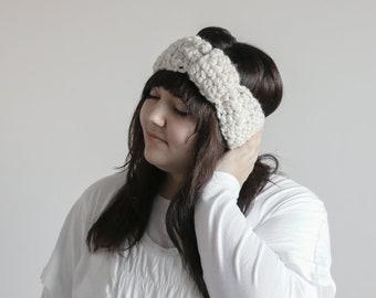 Chunky Ear Warmer, Turban Headband, Crochet Headband, Crochet Turban, Turban Hat, Earwarmer Headband, Fisherman Cream, Ear Warmer Women
