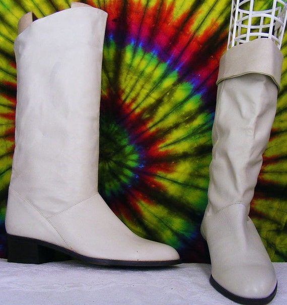 Size 6.5 M vintage 80's off white leather MISTER S