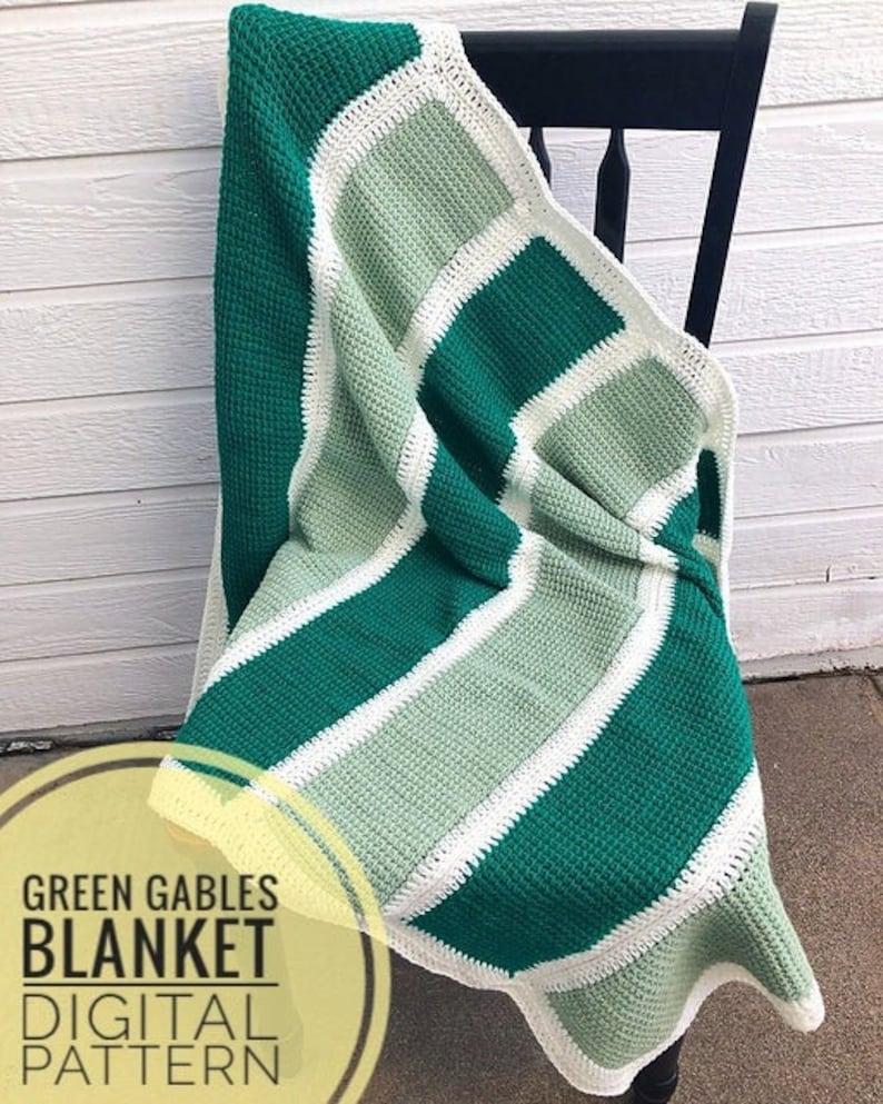 Tunisian Crochet Baby Blanket Pattern  Green Gables Blanket image 0