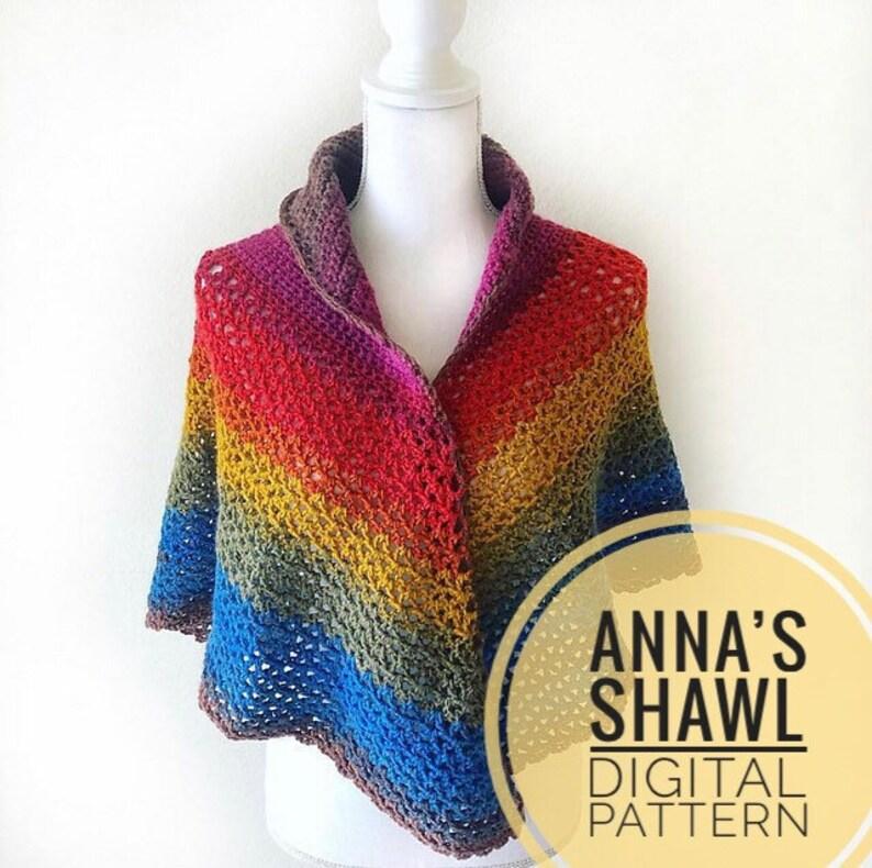 Shawl Crochet Pattern  Anna's Shawl Crochet Pattern PDF image 0