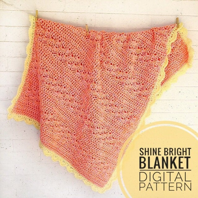 Blanket Crochet Pattern  Shine Bright Blanket Pattern image 0
