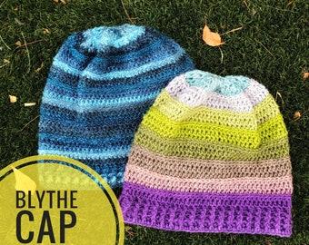 Hat Crochet Pattern - Blythe Cap Crochet Pattern, PDF Digital Download Only, Crochet Hat, Crochet Beanie, Crochet Toque