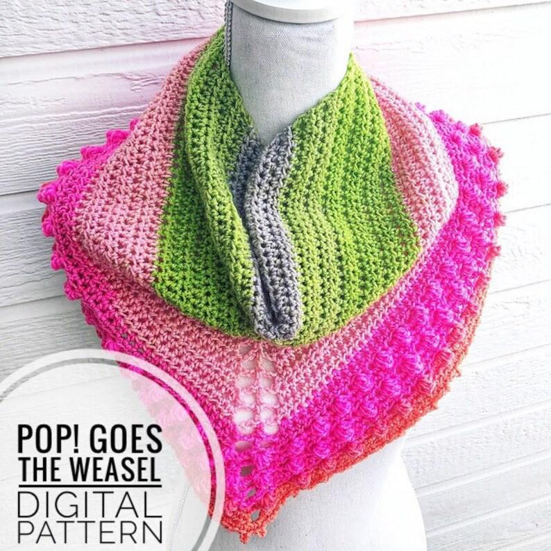 Cowl Crochet Pattern  Pop Goes The Weasel Crochet Pattern image 0