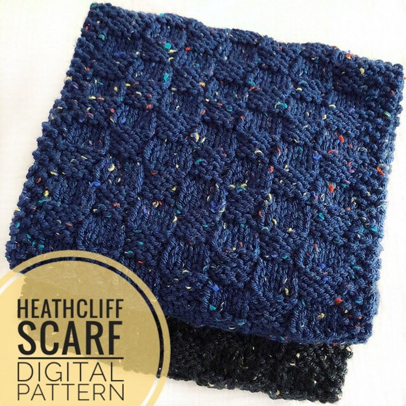 Scarf Knitting Pattern  Heathcliff Scarf Knit Pattern PDF image 0