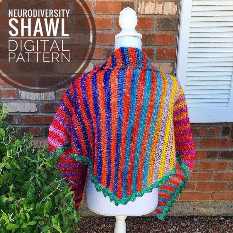 Shawl Crochet Pattern  Neurodiversity Shawl PDF Crochet image 0