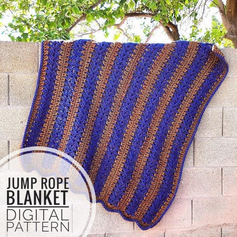 Blanket Crochet Pattern  Jump Rope Blanket Crochet Pattern image 0