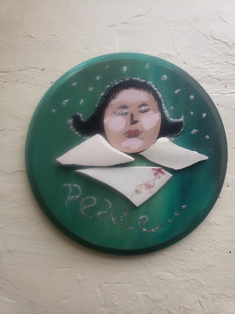 Joyful Angel Mosaic Plaque Joy Plaque Angel Plaque