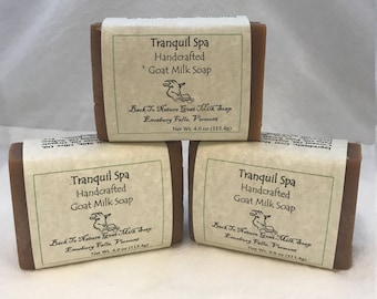 Tranquil Spa Goat Milk Soap, Handcrafted soap, Soap made in Vermont, Small batch soap, Mother's day gift, Stocking stuffer