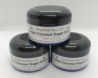 Virgin Coconut Sugar Scrub, dry skin exfoliating scrub.