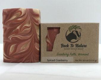 Spiced Cranberry Goat Milk Soap