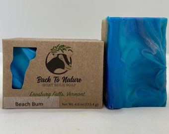 Beach Bum Goat Milk Soap, beach theme soap, ocean soap, gift for beach lovers, Father's Day gift
