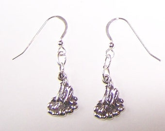 Sterling Silver CAMP FIRE Earrings -- Camping
