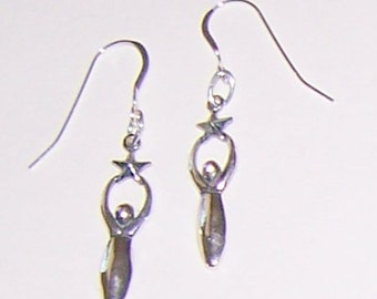 Sterling Silver STAR GODDESS Earrings -