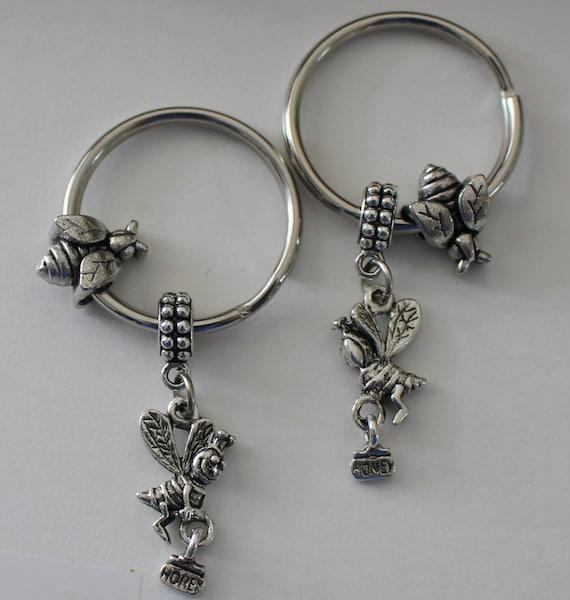 Jewelry Key Chain Honey Bee Keeper \u2022 Earrings Ring Pendant Necklace
