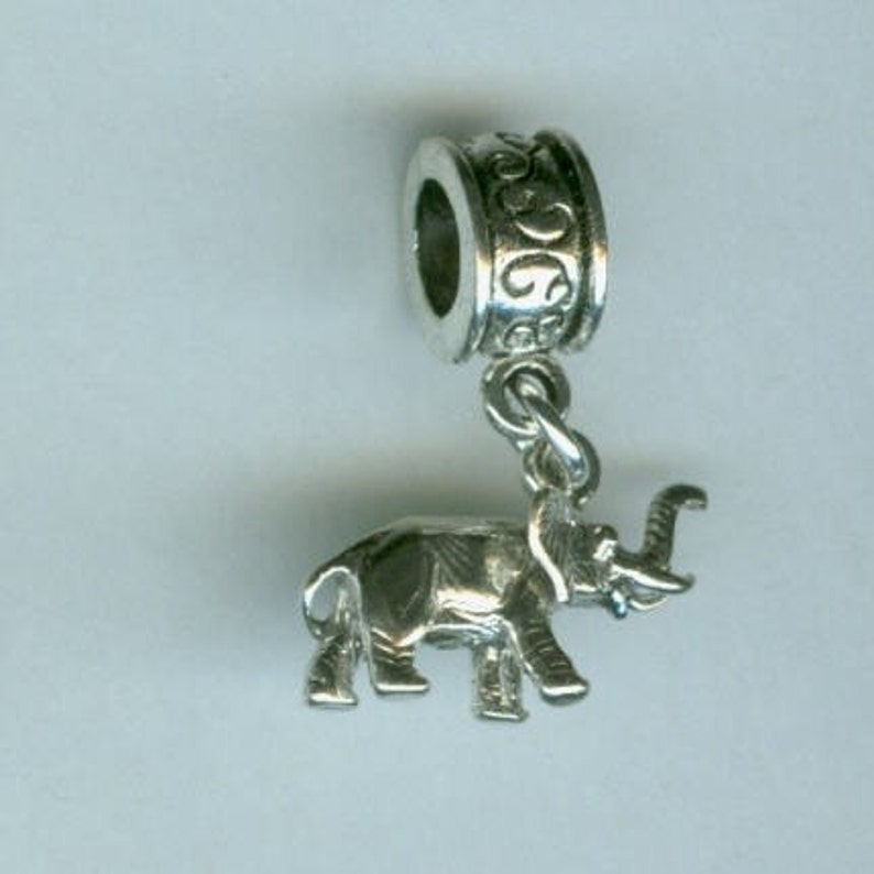 3 Dimensional Sterling ELEPHANT Bead Charm for all Name Brand Add a Bead Bracelets