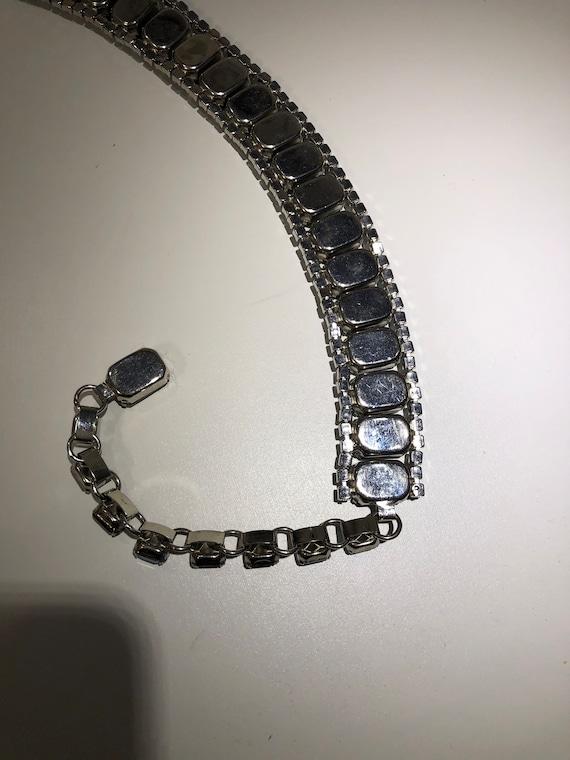 OOAK Stunning Vintage 50s Statement Blue Glass Rh… - image 6