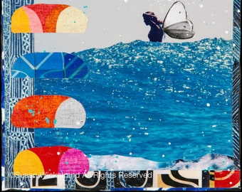 NEW, FOLLOW Your BLISS, 3 Sizes, 8x10, 11x14, 16x20, Hand Signed Matted Print, Surfing, Surf Art, Waves,サーフ, butterfly, home decor,  Surf