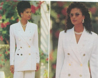 80s  90s Women/'s Vest  Waistcoat Black  Grey Tuxedo Style Wool Silk Blend Ellen Tracy Linda Allard  Vintage Size 16