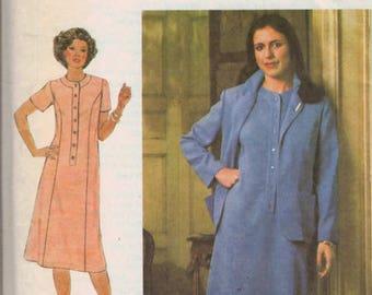 Vintage 1970s Misses Sewing Pattern Simplicity 9151 Womens Plus Size Jumper and Pants Size 42 Bust 46 1979 70s UNCUT