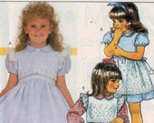 Girls Sewing Pattern McCalls 9478 Girls Party Dress Ruffles and Lace Size 5 6 6X Breast 24 25 25 1 2 1985 80s UNCUT