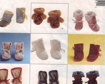 Craft Sewing Pattern McCalls 5131 Cozy Toes Baby Booties Soft Shoes Boots UNCUT